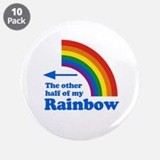 "The other half of my rainbow (left) 3.5"" Button (1"