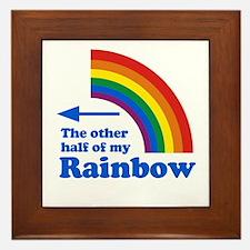The other half of my rainbow (left) Framed Tile