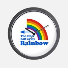 The other half of my rainbow (left) Wall Clock