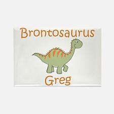 Brontosaurus Greg Rectangle Magnet
