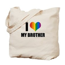 I love my gay brother Tote Bag