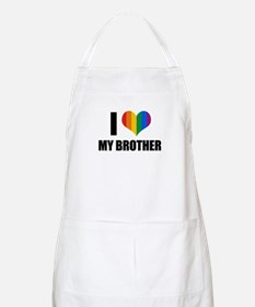 I love my gay brother BBQ Apron