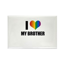 I love my gay brother Rectangle Magnet