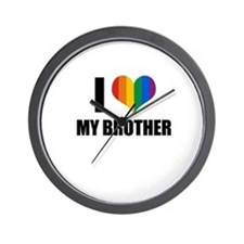 I love my gay brother Wall Clock