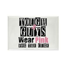 Tough Guys Wear Pink Rectangle Magnet