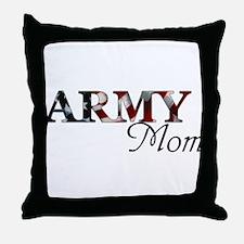 Army Mom (Flag) Throw Pillow