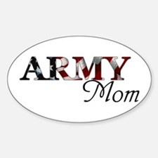 Army Mom (Flag) Oval Decal