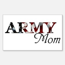 Army Mom (Flag) Rectangle Decal