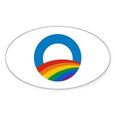Obama Pride Oval Decal
