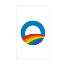 Obama Pride Rectangle Decal