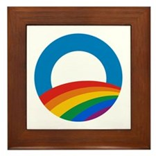 Obama Pride Framed Tile