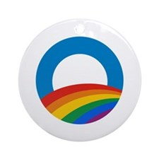 Obama Pride Ornament (Round)