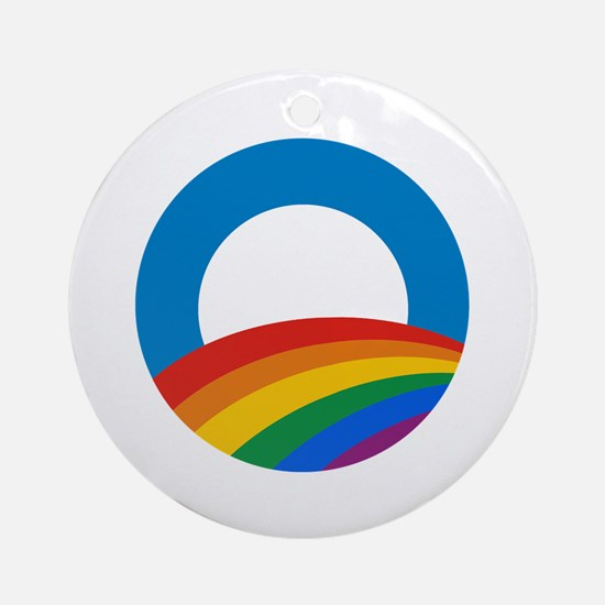 Obama Pride Ornament (Round)