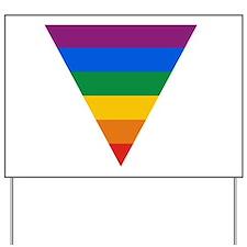 Pride Triangle Yard Sign