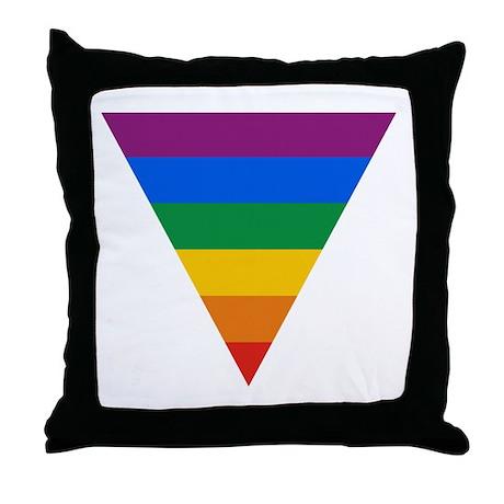 Pride Triangle Throw Pillow