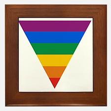 Pride Triangle Framed Tile