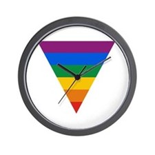 Pride Triangle Wall Clock