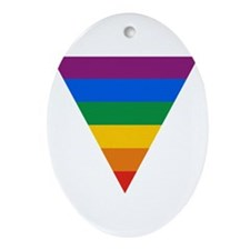 Pride Triangle Oval Ornament