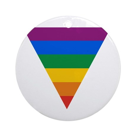 Pride Triangle Ornament (Round)