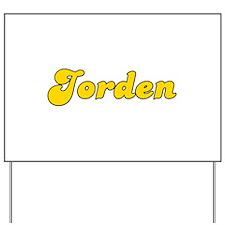 Retro Jorden (Gold) Yard Sign