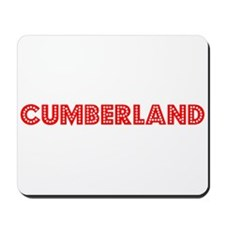 Retro Cumberland (Red) Mousepad