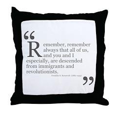 Revolutionists Throw Pillow