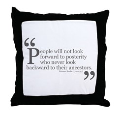 Look Backward Throw Pillow