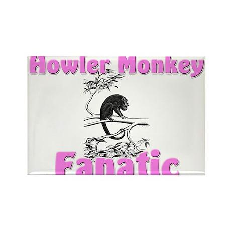 Howler Monkey Fanatic Rectangle Magnet