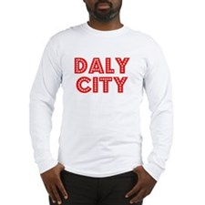 Retro Daly City (Red) Long Sleeve T-Shirt