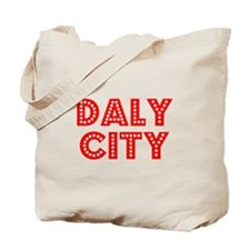Retro Daly City (Red) Tote Bag