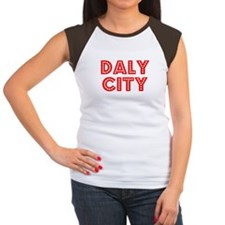 Retro Daly City (Red) Women's Cap Sleeve T-Shirt