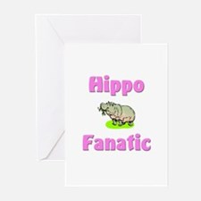 Hippo Fanatic Greeting Cards (Pk of 10)