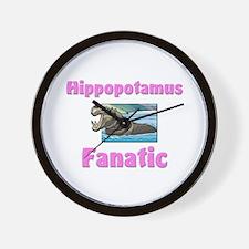 Hippopotamus Fanatic Wall Clock