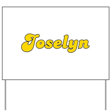 Retro Joselyn (Gold) Yard Sign