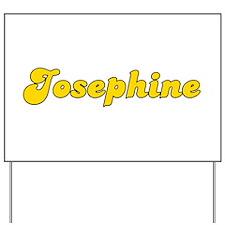 Retro Josephine (Gold) Yard Sign