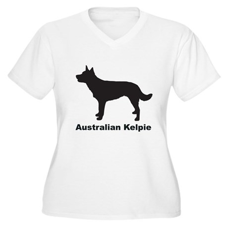 AUSTRALIAN KELPIE Womes Plus-Size V-Neck T-Shirt