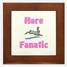 Hare Fanatic Framed Tile