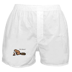 Nice Beaver! Boxer Shorts