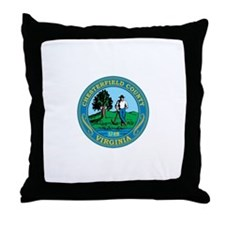 CHESTERFIELD-COUNTY-SEAL Throw Pillow