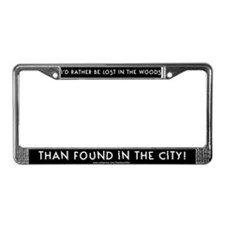 Lost in the Woods License Plate Frame