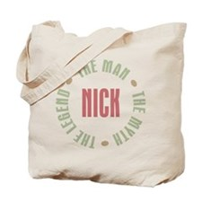Nick Man Myth Legend Tote Bag