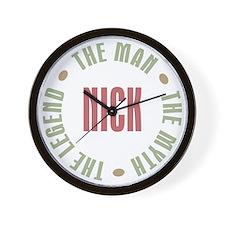 Nick Man Myth Legend Wall Clock