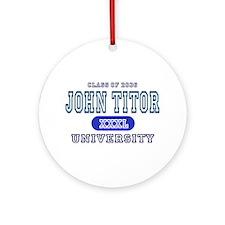 John Titor Ornament (Round)