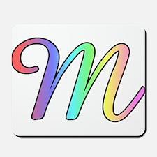 Pastel Cursive M Mousepad