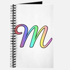 Pastel Cursive M Journal