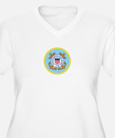 COAST-GUARD-SEAL Womes Plus-Size V-Neck T-Shirt