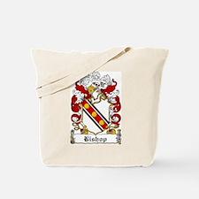 Bishop Family Crest Tote Bag