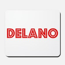 Retro Delano (Red) Mousepad
