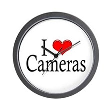 I Heart Cameras Wall Clock