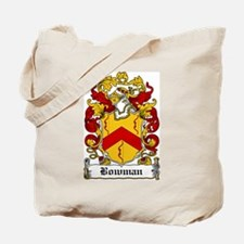 Bowman Family Crest Tote Bag